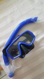Kit mergulho oculos + snorkel