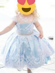 Vestido festa luxo princesa Cinderela/ Alice/ Frozen
