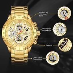 Relógios Naviforce Dourado todo funcional