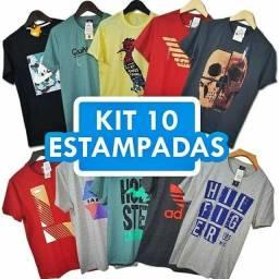 Kit com 10 Camisetas