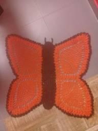 Tapete de crochê borboleta