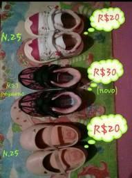 Sapatos infantis p/ menina