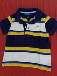 Três blusas golo polo da Tommy - 18 meses - conservadas - R$ 100,00