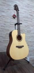 Violão Folk Cutway Tampo Spruce B/S Mogno EQ CR-T NV Gloss HD-250CE/N Crafter<br><br>