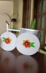Vaso modelo Triciclo com cactos natural (Ipatinga MG)