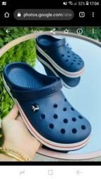 Crocs azul c/nota/garantia de 1 ano