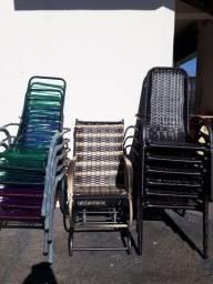 Cadeiras de fio e fibra sintética novas