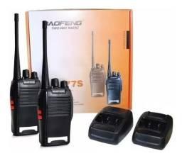 Kit rádio de comunicação baofeng
