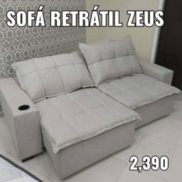 Sofá retrátil Zeus de promoção ?