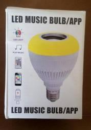 Lâmpada Bluetooth Led! Toca música via conexão Bluetooth!
