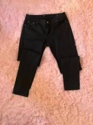 Calça jeans resinado Zara