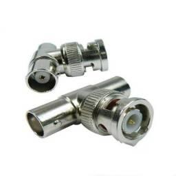 Conector coaxial divisor Bnc Macho Tipo T Bnc-T Cftv