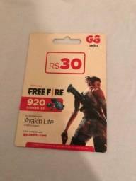 cartão do jogo free fire