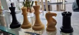 Peças de xadrez Staunton lindas pesadas