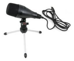 Microfone Profissional USB (Original Arcano!) (Acompanha Tripé)