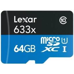 Micro sd 64GB Lexar lacrado, original