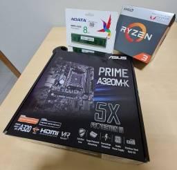 Kit Upgrade Gamer AMD Ryzen - Novo sem uso!