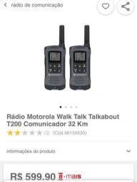 2 rádios MOTOROLA T200 alcança 32km