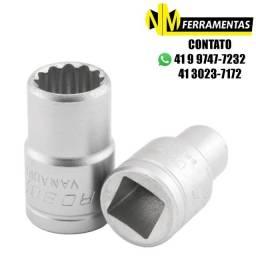 Soquete Estriado 10mm Com Encaixe De 1/2 Pol - Robust
