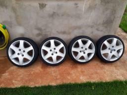 Rodas 15 pneu 165/40/15 delinte novos