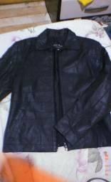 Jaqueta de couro legítimo Tam M