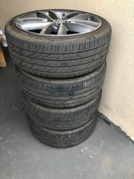 Rodas 17 pneus zeros oportunidade única