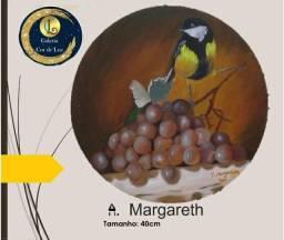 Quadro a óleo sobre tela - A. Margareth