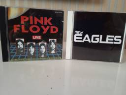 Cds pink Floyd e Eagles