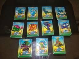 Lote de cards game dragon city ( ler descrição)