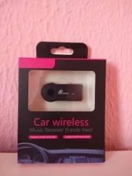 Adaptador Receptor Bluetooth Usb Chamada P2 Música Som Carro auxiliar
