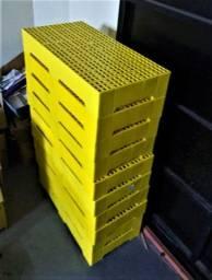 Estrado Pallet Plástico 41x82 Amarelo