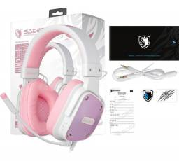 Headset Gamer Sades Fone D-power Xbox One Ps4 Celular Sa-722<br><br>