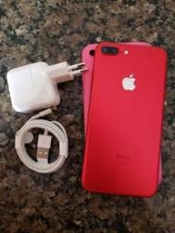 Iphone 7 plus red 128gb zerado!