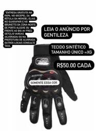 (Chega dia 30/5) Luva Motoqueiro Pró Black Preta