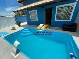 JC-034-5 Casa em Unamar, de 2 quartos, área gourmet e piscina