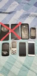 5 aparelhos celular - maioria com defeito