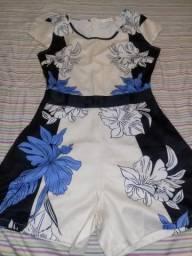 Blusa calça vestido macacão