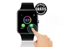 Relógio smart watch Bluetooth gt08 android micro Sd chip 4g - entrega grátis