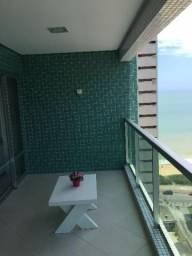 3 Quartos de 123 m², andar alto com vista para o mar, lazer completo