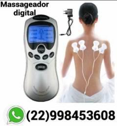 Massageador de Fisioterapia e Acupuntura Digital com choque Elétrico Tens