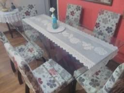 Mesa em vidro temperado