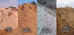 Areia Media, Regular, FIna, Grossa, Lavada