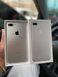IPhone 7 Plus silver 128gb IMPECÁVEL