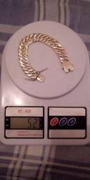 Lindíssima pulseira de prata pura