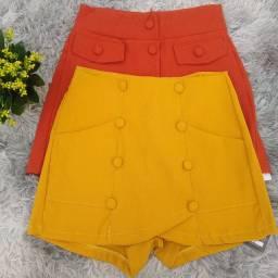 Short saia de alfaiataria