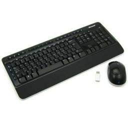 Teclado e Mouse - Sem fio - Microsoft Wireless Desktop 3000 - Preto - MFC-00006