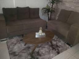 Sofá de luxo 2 e 3 lugares marrom