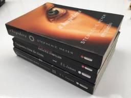 Coleção 4 livros - 2 Cinquenta tons de cinza + A hospedeira + Axlote atropelado