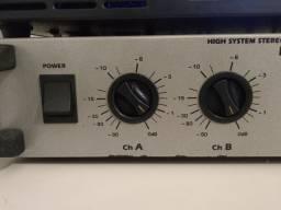 """Amplificador LL 600 + par de caixas som 12"""""""""""