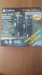 Rádios COBRA CB (par) 4W 40 canais nunca usado na caixa